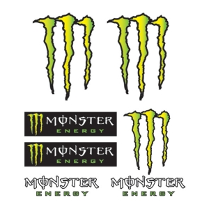 Motorcycle accessories Stickerkit Monster 14x16  by Booster