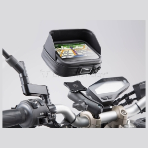 Motoraccessoires Univ. GPS Kit 22/28mm + Tas by SW Motech
