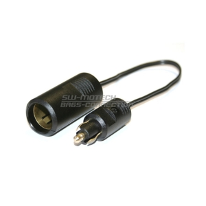 Adapter 12V met plug 20cm by SW Motech