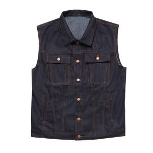 Raw Denim Vest by John Doe
