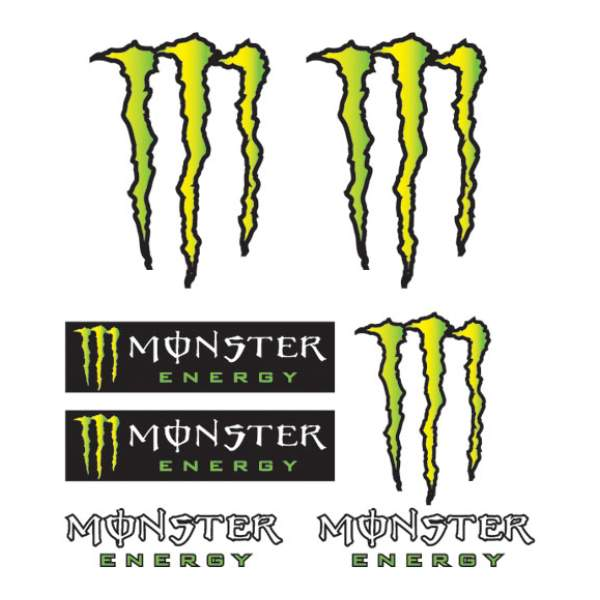 Motoraccessoires Stickerkit Monster 14x16  by Booster