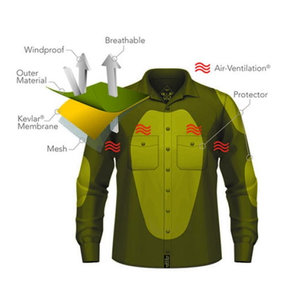 Motorkledij Lumberjack Shirt Kevlar by John Doe