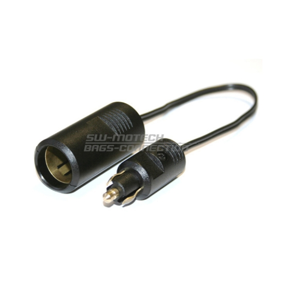 Motorcycle accessories Adapter 12V met plug 20cm by SW Motech